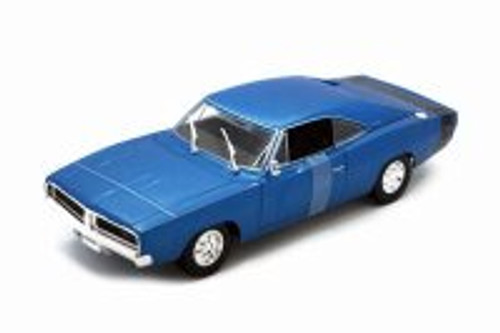 1969 Dodge Charger R/T Hardtop, Blue - Maisto 31387BU - 1/18 scale Diecast Model Toy Car