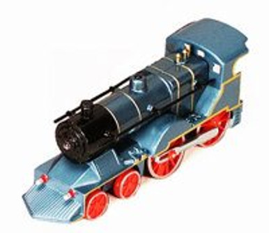 Classic Pullback Train w/ Lights and Sounds, Blue - 675SL - Model Toy Car