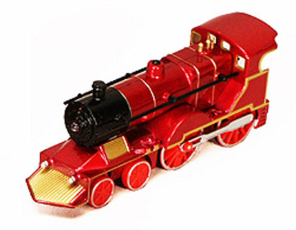 Classic Pullback Train w/ Lights and Sounds, Red - 675SL - Model Toy Car