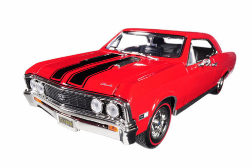 1967 Chevy Chevelle SS 396 Hard Top, Red - Motormax 73104TC/R - 1/18 scale Diecast Model Toy Car