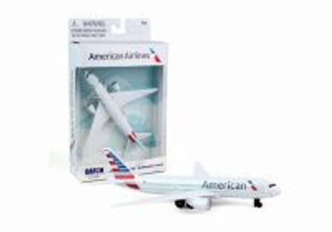 American Airlines Single Plane New Livery, White - Daron RT1664-1 - Diecast Model Airplane Replica