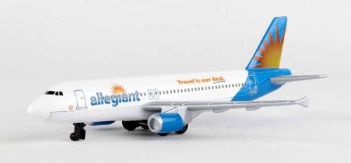 Allegiant Airlines Single Plane, White - Daron RT2324 - Diecast Model Airplane Replica