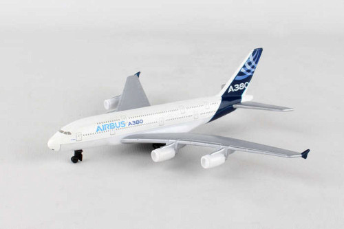 Airbus A380 Single Plane, White - Daron RT0380 - Diecast Model Airplane Replica