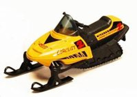 "5.5"" Pullback Snowmobile, Yellow - 9918D - Diecast Model Toy Car"