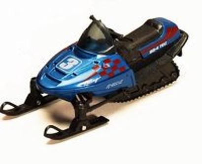 "5.5"" Pullback Snowmobile, Blue - 9918D - Diecast Model Toy Car"