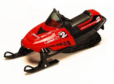 """5.5"""" Pullback Snowmobile, Red - 9918D - Diecast Model Toy Car"""