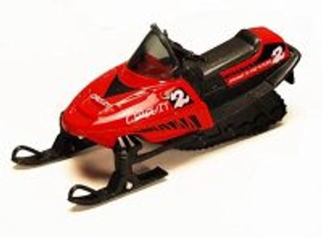 "5.5"" Pullback Snowmobile, Red - 9918D - Diecast Model Toy Car"