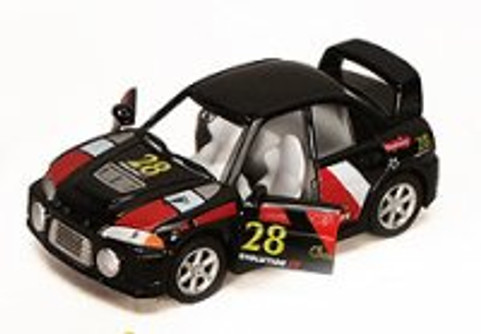 "Turbo Racer with Decals #28, Black - Kinsmart 5008/10DH - 5"" Diecast Model Toy Car (Brand New, but NOT IN BOX)"