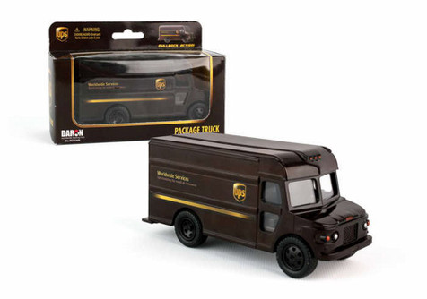 UPS Pullback Package Car, Brown - Daron RT4349 - Diecast Model Toy Car