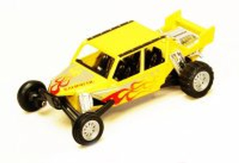 "Turbo Sandrail, Yellow - Kinsmart 5256D - 5"" Diecast Model Toy Car (Brand New, but NOT IN BOX)"
