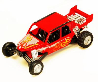 "Turbo Sandrail, Red - Kinsmart 5256D - 5"" Diecast Model Toy Car (Brand New, but NOT IN BOX)"