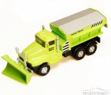 Snow Plow Truck, Green - Showcasts 9915D - 5.75 Inch Scale Diecast Model Replica (Brand New, but NOT IN BOX)