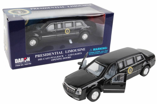 Presidential Pullback Limo, Black - Daron HS5700 - Diecast Model Toy Car