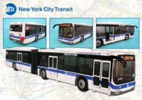 Mta Articulated Bus, White - Daron RT8563 - Diecast Model Toy Car