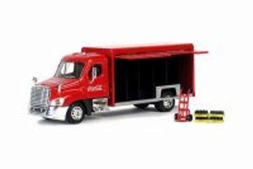 Coca-Cola Beverage Delivery Truck, Red - Motorcity Classics 450060 - 1/50 Scale Diecast Model Toy Car