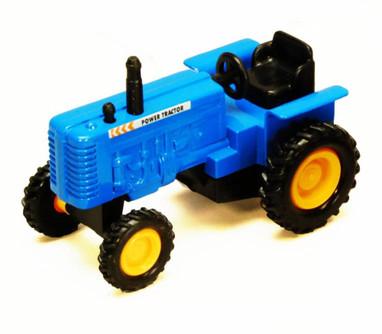 Power Farm Tractor, Blue - Showcasts 2169D - 4 Inch Scale Diecast Model Replica