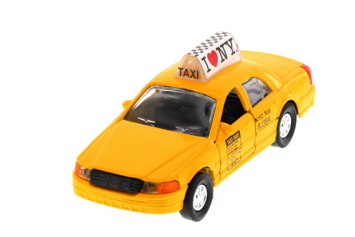 I Love New York Modern Taxi Cab, Yellow - 9989D-ILNY - Collectible Model Toy Car