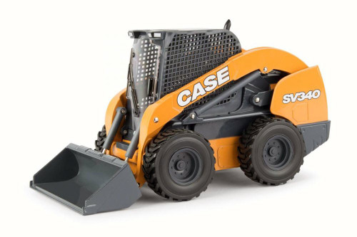 SV340 Skid Steer Loader, Yellow - TOMY 44121 - 1/16 Scale Diecast Model Toy Car