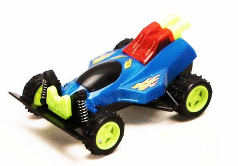 Friction Powered Spark Fighter w/ Light, Blue - 8902D - Model Toy Car