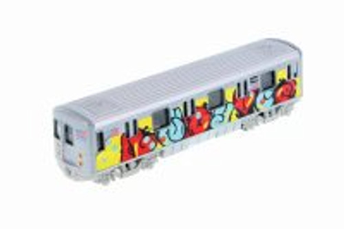 Metro Subway with Graffiti, Yellow - Showcasts 2233DGF - 1/43 scale Diecast Model Toy Car