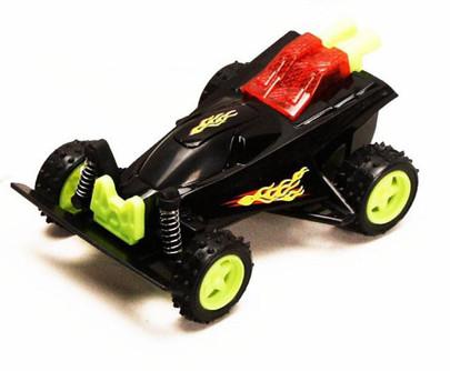 Friction Powered Spark Fighter w/ Light, Black - 8902D - Model Toy Car