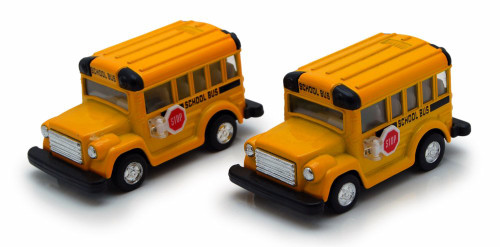 "School Bus, Yellow -Kintoy 4004DY -3.75"" Diecast Model Toy Car"