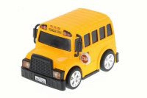 School Bus, Yellow - Chubby Champs 88025 - Diecast Model Toy Car