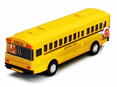 Metro School Bus, Yellow - Showcasts 9830D - 5 Inch Scale Diecast Model Replica