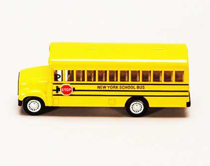 "New York School Bus, Yellow - Kinsmart 5107NY - 5"" Diecast Model Toy Car"