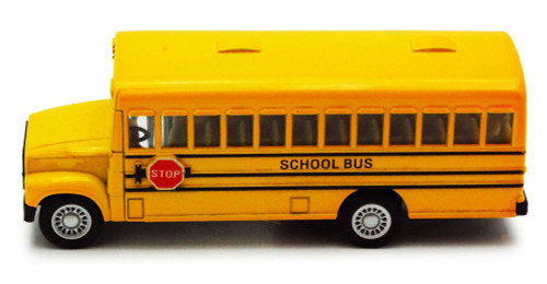 "School Bus, Yellow - Kinsmart 5107D - 5"" Diecast Model Toy Car"