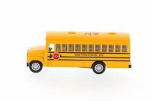 I Love New York School Bus, Yellow - Kinsmart 5107W-ILNY -  Diecast Model Toy Car