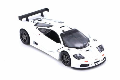 1995 McLaren P1 GTR Hardtop, White - Kinsmart 5411D - 1/36 scale Diecast Model Toy Car