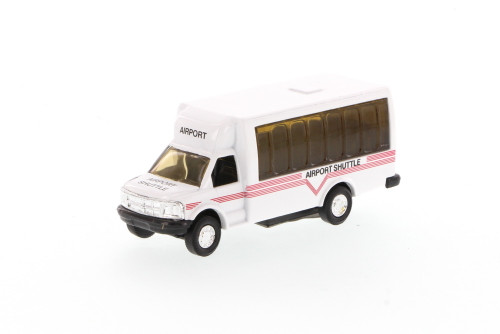 Airport Shuttle Bus, White - Showcasts 9808D - 4.75 Inch Scale Diecast Model Replica