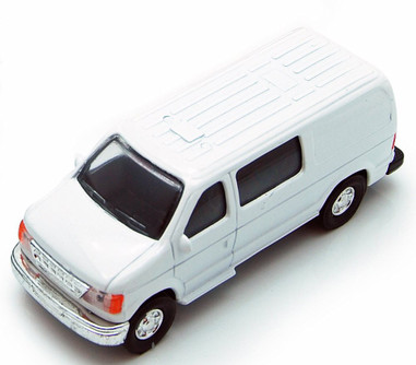City Passenger Van, White - Showcasts 9951/4D - 4.75 Inch Scale Diecast Model Replica