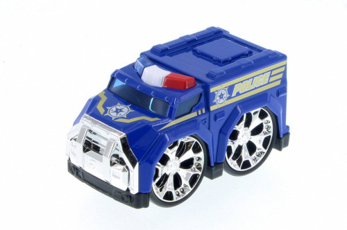 Super Engine Rescue Racer Police Car, Blue 78403D - Motor Max Showcasts 78401/3D - Diecast Model Toy Car