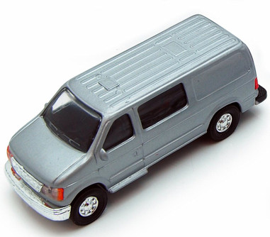 City Passenger Van, Silver - Showcasts 9951/4D - 4.75 Inch Scale Diecast Model Replica