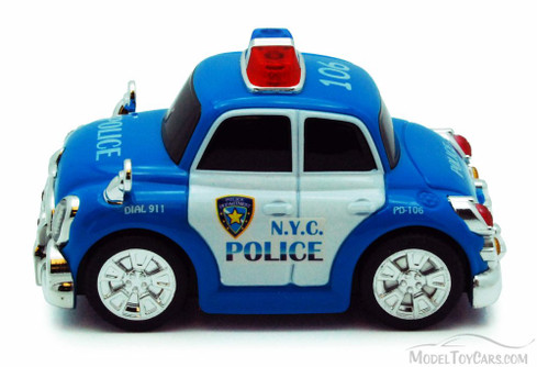 Chubby Champs Police Car, Blue - 88001A - Collectible Model Toy Car