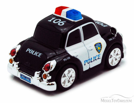 Chubby Champs Police Car, Black - 88001A - Collectible Model Toy Car