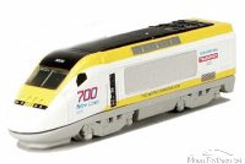 Express Locomotive, White with Yellow & Black - Showcasts 9936D - 7 Inch Scale Diecast Model Replica