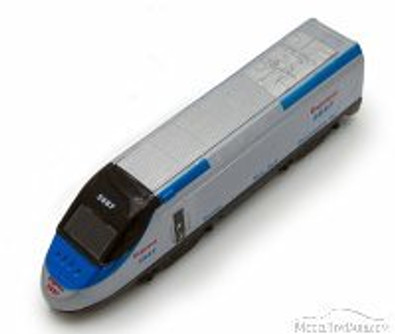 Express Locomotive, Silver with Black & Blue - Showcasts 9936D - 7 Inch Scale Diecast Model Replica