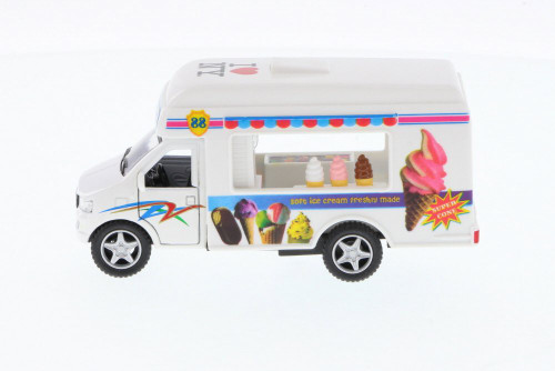 I Love New York Ice Cream Truck, White - Kinsmart 5253W-ILNY -  Diecast Model Toy Car