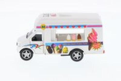 I Love New York Ice Cream Truck, White - Kinsmart 5253W-ILNY -  Diecast Model Toy Car