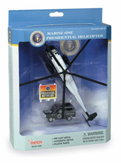 Marine One VH-3D Sea King, Black - Real Toy RT5760 - Diecast Vehicle Playset