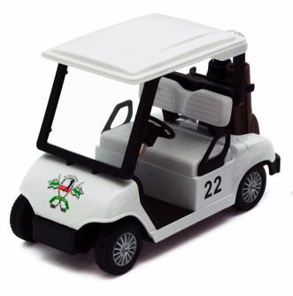 """Golf Cart, White - Kinsmart 5105D - 4.5"""" Diecast Model Toy Car"""