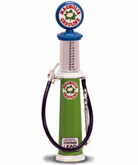 Cylinder Gas Pump Magnolia, Green - Yatming 98742 - 1/18 scale diecast model