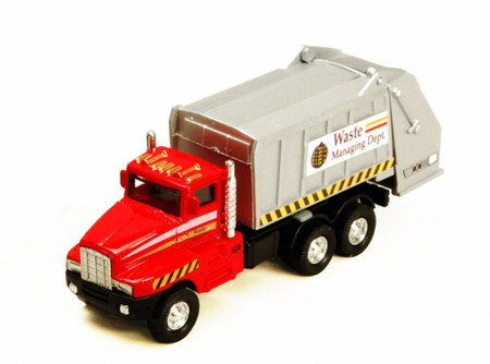 Garbage Truck, Red - Showcasts 9911DG - 6 Inch Scale Diecast Model Replica