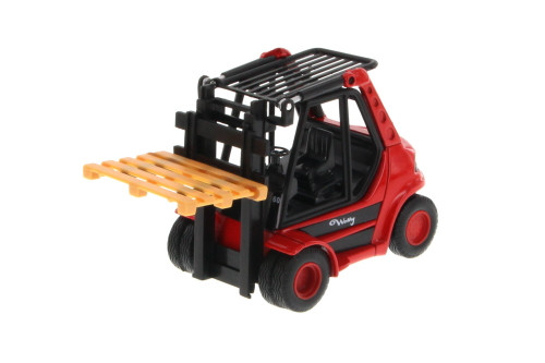 "Action Fork Lift Truck, Yellow - Welly 92010/6D - 5.5"" Long  Collectible Model"
