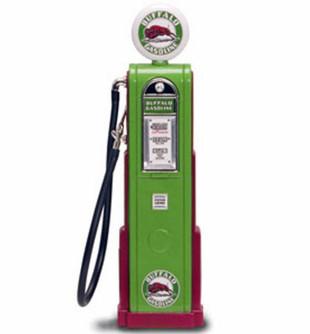 Digital Gas Pump Buffalo Gasoline, Green - Yatming 98711 - 1/18 scale diecast model