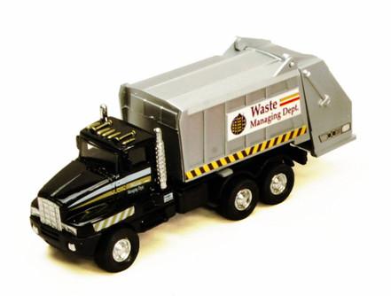 Garbage Truck, Black - Showcasts 9911DG - 6 Inch Scale Diecast Model Replica