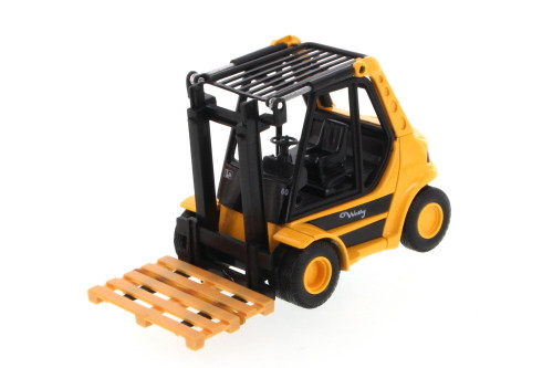 "Action Fork Lift Truck, Red - Welly 92010/6D - 5.5"" Long  Collectible Model"